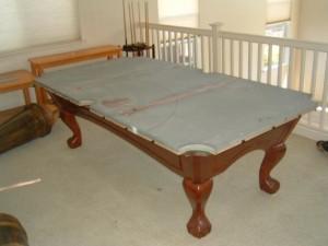 Proper pool table moving process in Lake Charles Louisiana